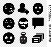 chat icons. set of 9 editable... | Shutterstock .eps vector #795502201