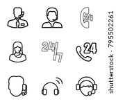 operator icons. set of 9... | Shutterstock .eps vector #795502261