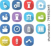 flat vector icon set  ... | Shutterstock .eps vector #795502645