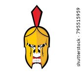 spartan helmet armor   Shutterstock .eps vector #795515959