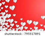 valentines day card with... | Shutterstock .eps vector #795517891