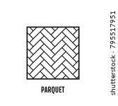 parquet. flooring. flat icon... | Shutterstock .eps vector #795517951