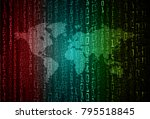 binary circuit board future... | Shutterstock .eps vector #795518845