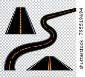 winding curved road or highway... | Shutterstock .eps vector #795519694