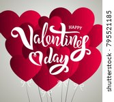 valentine s day template with... | Shutterstock .eps vector #795521185