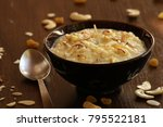 rice payasam or rice pudding is ... | Shutterstock . vector #795522181