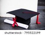graduation mortarboard and...   Shutterstock . vector #795522199