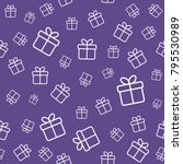 gift boxes seamless pattern.... | Shutterstock .eps vector #795530989