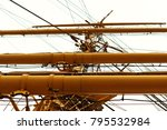 cleats and mast  nautical... | Shutterstock . vector #795532984