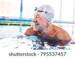 senior man in an indoor... | Shutterstock . vector #795537457