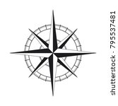 compass gray simple flat icon | Shutterstock .eps vector #795537481