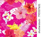 tropical seamless pattern with...   Shutterstock .eps vector #795537631