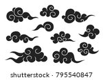 cartoon clouds seamless pattern | Shutterstock .eps vector #795540847
