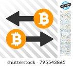 bitcoin exchange pictograph... | Shutterstock .eps vector #795543865