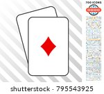 diamonds suit playing cards... | Shutterstock .eps vector #795543925