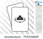 prison fortress playing cards... | Shutterstock .eps vector #795544009