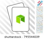 neo currency playing cards icon ... | Shutterstock .eps vector #795544039