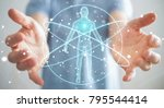businessman on blurred...   Shutterstock . vector #795544414