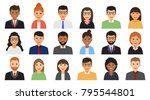 group of working people men and ... | Shutterstock .eps vector #795544801