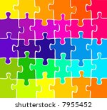 vector colorful puzzle | Shutterstock .eps vector #7955452