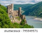 rheinstein castle at rhine... | Shutterstock . vector #795549571