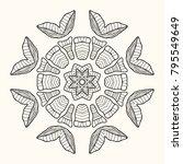 decorative mandala. vector... | Shutterstock .eps vector #795549649