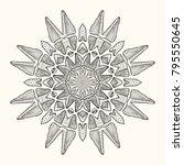 decorative mandala. vector... | Shutterstock .eps vector #795550645