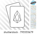 eos currency playing cards... | Shutterstock .eps vector #795555679