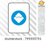 waves currency playing card... | Shutterstock .eps vector #795555751