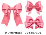big collection set of pink... | Shutterstock . vector #795557101