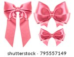 big collection set of pink... | Shutterstock . vector #795557149