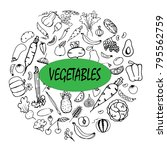 a variety of vegetables and...   Shutterstock .eps vector #795562759