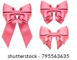 big collection set of pink... | Shutterstock . vector #795563635