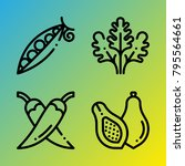 vegetarian vector icon set... | Shutterstock .eps vector #795564661