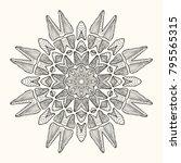 decorative mandala. vector... | Shutterstock .eps vector #795565315