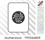 iota playing card icon with 7... | Shutterstock .eps vector #795566809