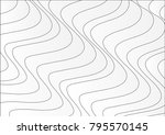 abstract waves and lines... | Shutterstock .eps vector #795570145
