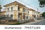create new house at building...   Shutterstock . vector #795571285