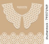 vector fashion background.... | Shutterstock .eps vector #795571969