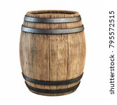 wooden barrel isolated on white ...