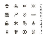 safety icons. perfect black... | Shutterstock .eps vector #795573217