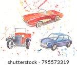 watercolor hand drawn sketch... | Shutterstock . vector #795573319