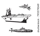 aircraft carrier typical with...