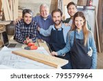 artisans as a team with men and ... | Shutterstock . vector #795579964