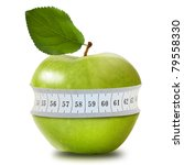 Green Apple With Measurement...