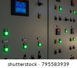 control panel in the factory... | Shutterstock . vector #795583939