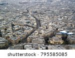 paris  france   march 23  2016  ... | Shutterstock . vector #795585085