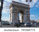 paris  france   march 22  2016  ... | Shutterstock . vector #795585775