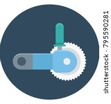 circular saw colored... | Shutterstock .eps vector #795590281