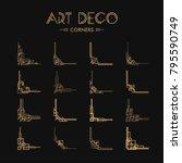 set of art deco corners for... | Shutterstock .eps vector #795590749